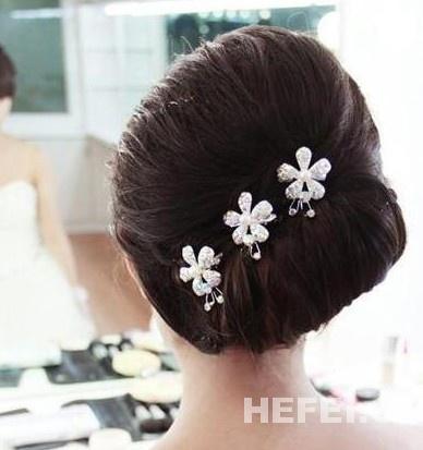 简单新娘发型步骤图片大全 新娘发型 杂谈吧 微吧 一起图片
